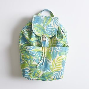 ~SET Baggu Tropical Leaves Palm Backpack & Zip Bag